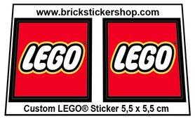 Precut Large LEGO Stickers 55mm x 55mm