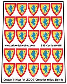 Precut Lego Custom Stickers for Crusader (Yellow) Shields