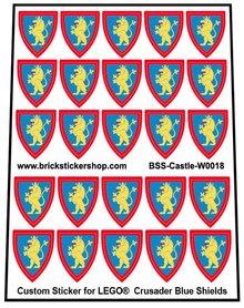 Precut Lego Custom Stickers for Crusader (Blue) Shields