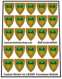 Precut Lego Custom Stickers for Forest man Shields