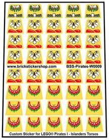 Precut Lego Custom Stickers for Pirates I - Ilanders Torsos