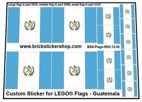 Precut Custom Stickers for LEGO Flags - Flag of Guatemala