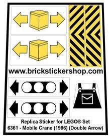 Precut Custom Replacement Stickers for Lego Set 6361 - Mobile Crane (1986) (Double Arrows)