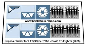 Precut Custom Replacement Stickers for Lego Set 7252- Droid Tri-Fighter (2005)