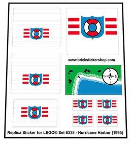 Precut Custom Replacement Stickers for Lego Set 6338 - Hurricane Harbor ( 1995)