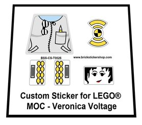 Precut Custom Replacement Stickers for Lego MOC Veronica Voltage