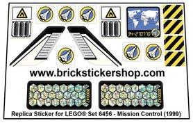 Precut Custom Stickers for Lego Set 6456 - Mission Control (1999)