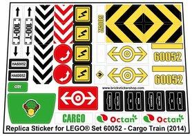 Precut Custom Replacement Stickers for Lego Set 60052 - Cargo Train (2014)