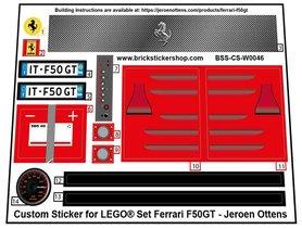 Precut Custom Stickers for LEGO MOC Ferrari F50GT by Jeroen Ottens