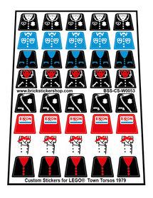 Custom Stickers for LEGO® Town Torsos (1979)