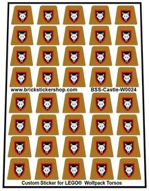 Custom Stickers for LEGO® Wolfpack Torsos