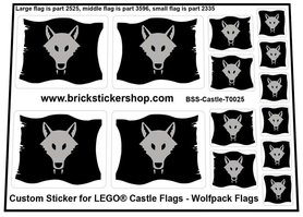 Custom Stickers for LEGO® Wolfpack Flags