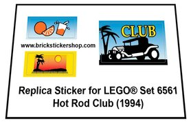 Precut Custom Replacement Stickers for Lego Set 6561 - Hot Rod Club (1994)
