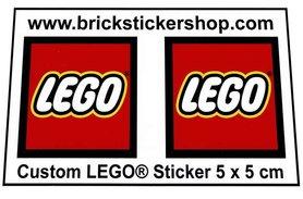 Precut Large LEGO Logo Stickers 5cm x 5cm
