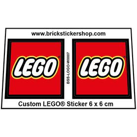 Precut Large LEGO LOGO Sticker 6 cm x 6 cm