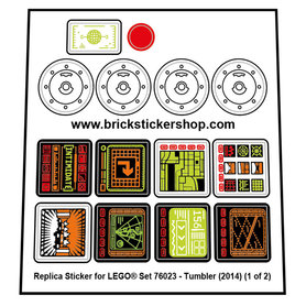 Precut Custom Replacement Stickers for Lego Set 76023 - The Tumbler