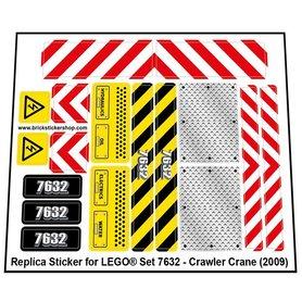 Precut Custom Replacement Stickers for Lego Set 7632 - Crawler Crane (2009)