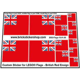 Precut Custom Stickers for LEGO Flags - British Red Ensign