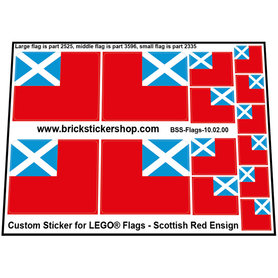 Precut Custom Stickers for LEGO Flags - Scottish Red Ensign