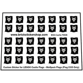Custom Stickers for LEGO® Wolfpack Flags (Flag 2335 Only)