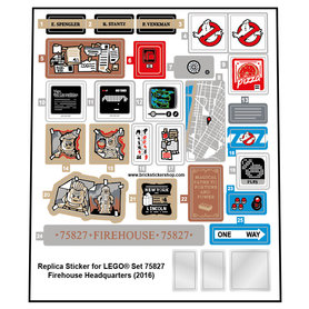 Precut Custom Replacement Stickers for Lego Set 75827 - Firehouse Headquarters (2016)