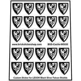 Precut Lego Custom Stickers for Black Silver Falcon Shields