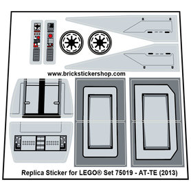 Precut Custom Replacement Stickers for Lego Set 75019 - AT-TE (2013)