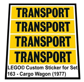 Precut Custom Replacement Stickers for Lego Set 163 - Cargo Wagon (1977)