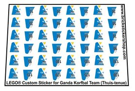 Lego Custom Sticker for Ganda Korfbal Team (Thuis-tenue)