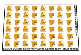 Lego Custom Sticker for Ganda Korfbal Team (Uit-tenue)