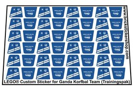 Lego Custom Sticker for Ganda Korfbal Team (Trainingspak)