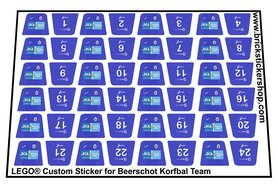 Lego Custom Sticker for Beerschot Korfbal Team
