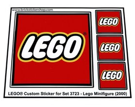 Precut Custom Replacement Stickers for Lego Set 3723 - Lego Minifigure (2000)