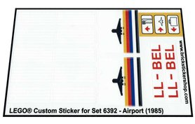 Precut Custom Replacement Stickers for Lego Set 6392 - Airport (1985)