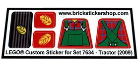 Precut Custom Replacement Stickers for Lego Set 7634 - Tractor (2009)