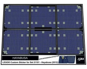 Precut Custom Replacement Stickers for Lego Set 21101 - Hayabusa (2012)