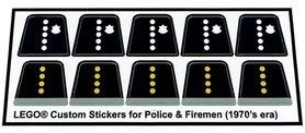 Precut Lego Custom Stickers - Police & Firemen Torsos (70's era)