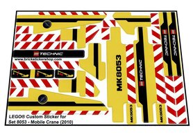 Precut Custom Replacement Stickers for Lego Set 8053 - Mobile Crane (2010)