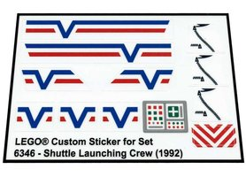 Precut Custom Replacement Stickers for Lego Set 6346 - Shuttle Launching Crew (1992)