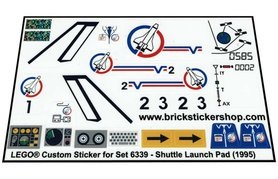 Precut Custom Replacement Stickers for Lego Set 6339 - Shuttle Launch Pad (1995)