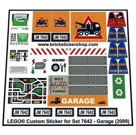 Precut Custom Replacement Stickers voor Lego Set 7642 - Garage (2009)