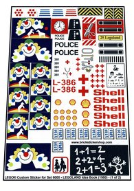 Precut Custom Replacement Stickers for Lego Set 6000 - LEGOLAND Idea Book (1980)