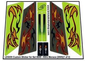 Precut Custom Replacement Stickers for Lego Set 8649 - Nitro Menace (2005)
