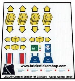 Precut Custom Replacement Stickers for Lego Set 6391 - Cargo Center (1984)