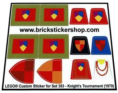 Precut Replica Sticker for Lego Set 383 - Knight's Tournament (1979)