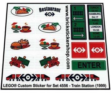 Precut Replica Sticker for Lego Set 4556 - Train Station (1999)