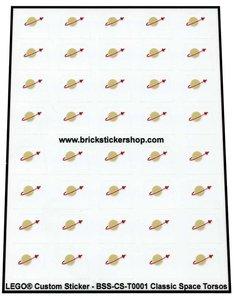 Lego Precut Custom Transparant Stickers for Classic Space Torsos