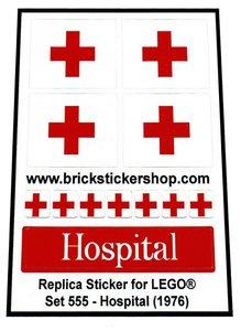 555 - Hospital sticker