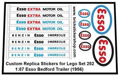 252 - 1-87 Esso Bedford Trailer (1956) Sticker
