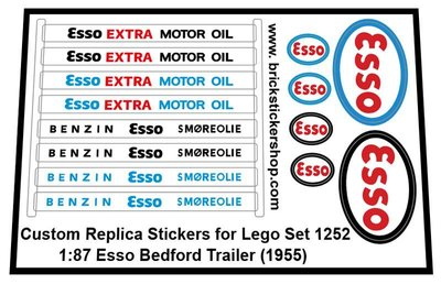 1252E - 1-87 Esso Bedford Trailer (1955) Sticker